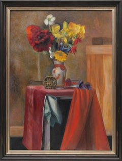 Untitled (Modernist Still Life with Flowers)