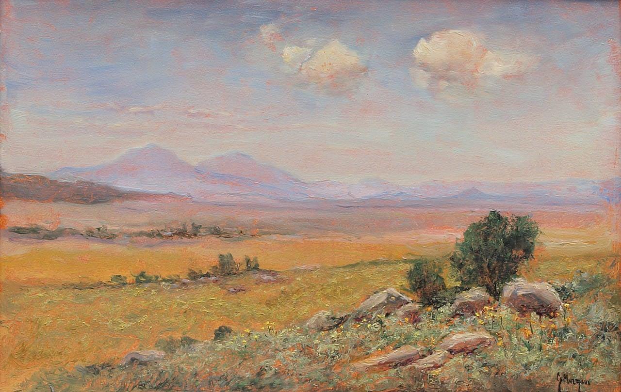 Jerry Malzahn Spanish Peaks From The Plains Colorado