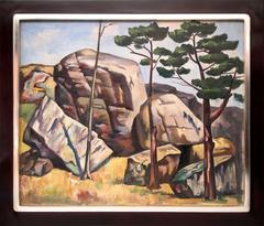 Untitled (Landscape with Rocks and Trees)