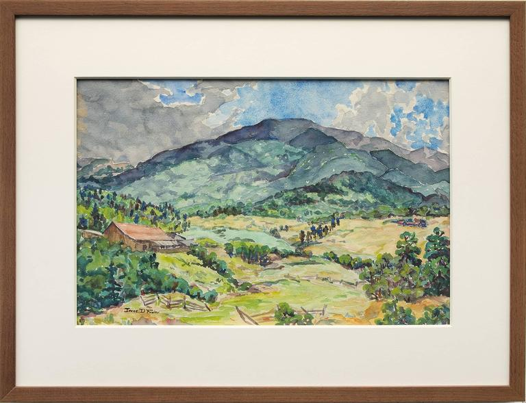 Irene D. Fowler Landscape Art - Untitled (Mountain Ranch, Colorado)