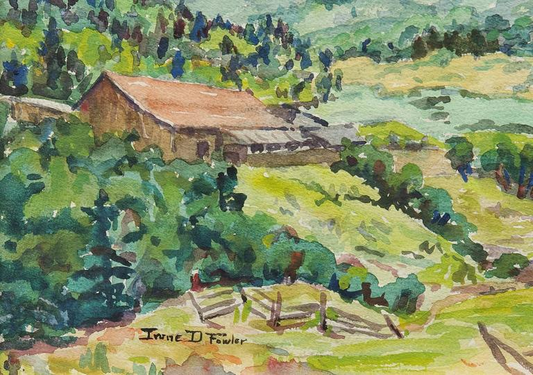 Untitled (Mountain Ranch, Colorado) - American Impressionist Art by Irene D. Fowler