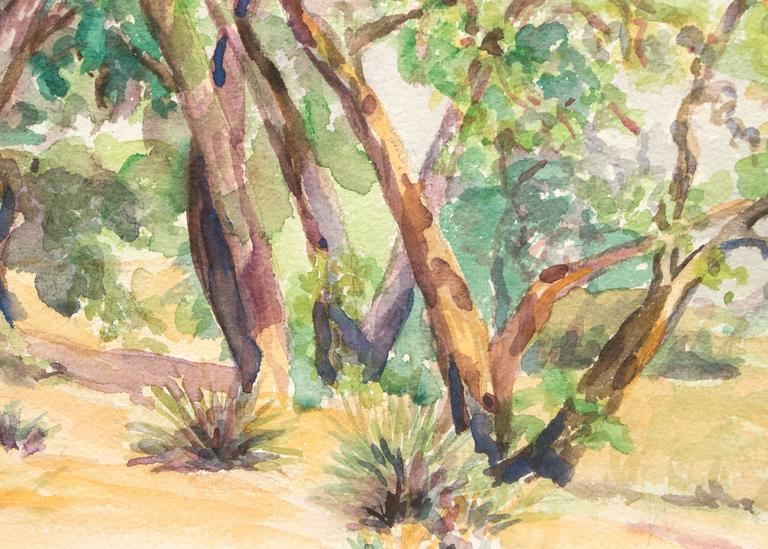 Untitled Landscape Painting of Trees Near a Colorado Ranch For Sale 1