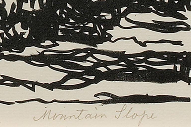 Mountain Slope  - Beige Landscape Print by Sven Birger Sandzen