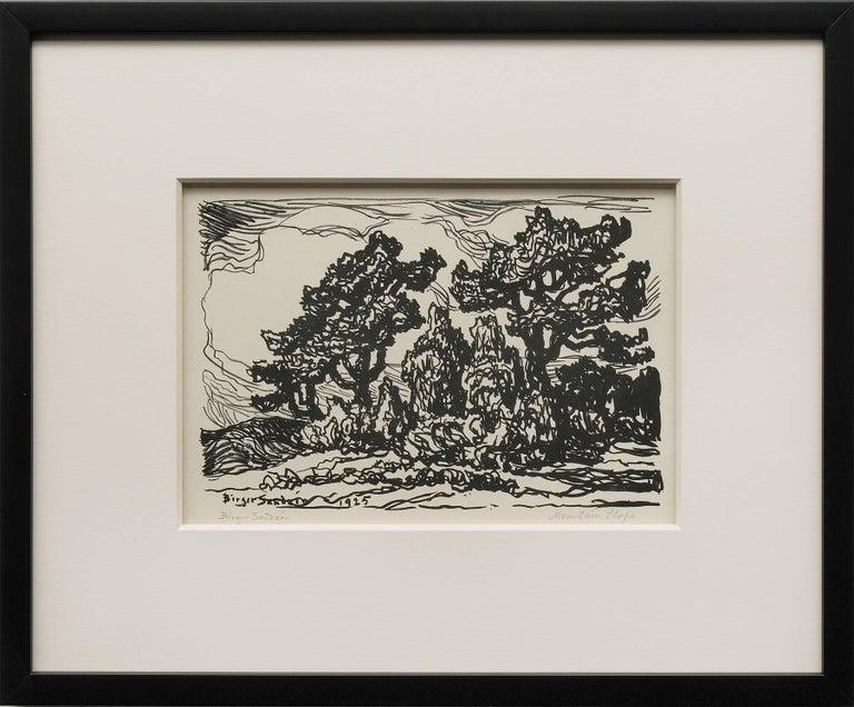 Sven Birger Sandzen Landscape Print - Mountain Slope
