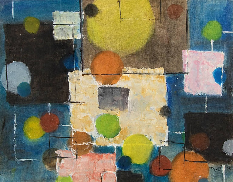 Untitled (Abstract) - Painting by Charles Ragland Bunnell