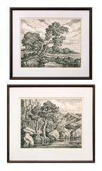 Pastures & Mountain Solitude (Two Original Lithographs signed by Birger Sandzén)