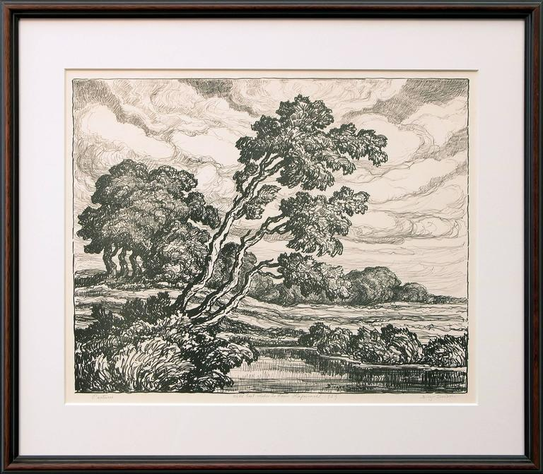 Pastures & Mountain Solitude (Two Original Lithographs) For Sale 1