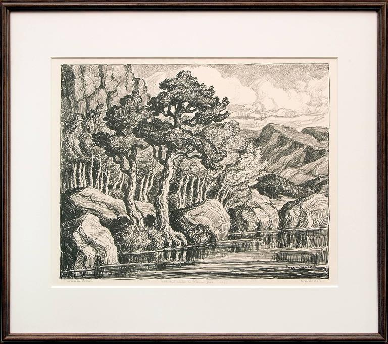 Pastures & Mountain Solitude (Two Original Lithographs) For Sale 3