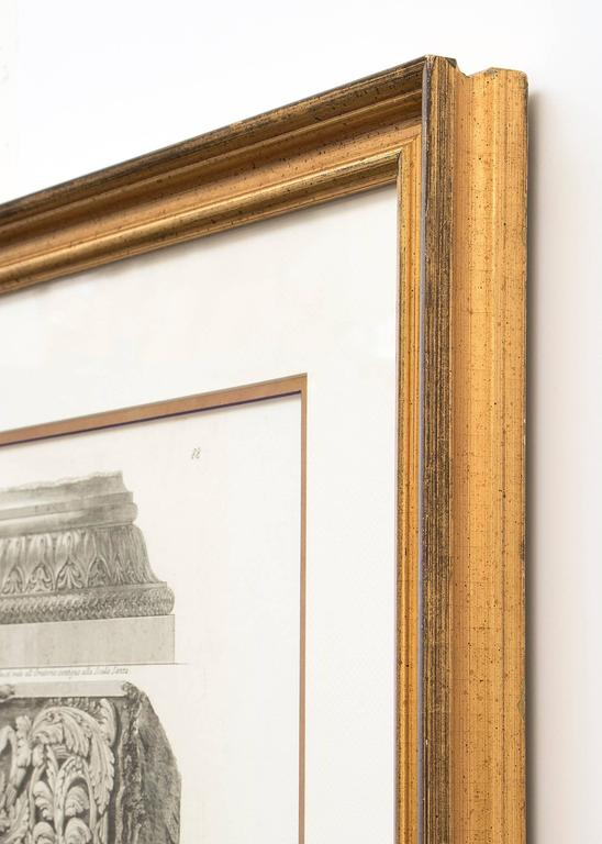 Pair of Etchings: Ornamental Frieze & Ancient Candelabra For Sale 1