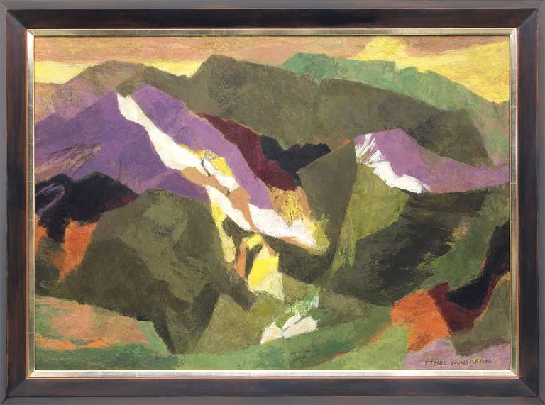 Ethel Magafan Landscape Painting - Above the Desert (Colorado)