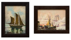 Pair of original Maritime/Sailboat Oil Paintings