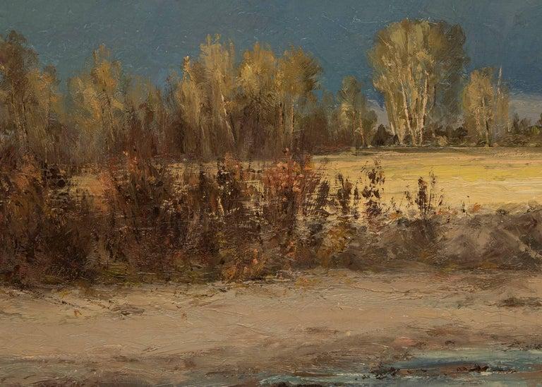 Untitled (Blanca Peak and Little Bear, Sangre de Cristo Mountains, Colorado) - Brown Landscape Painting by William H. M. (Coxe) Cox
