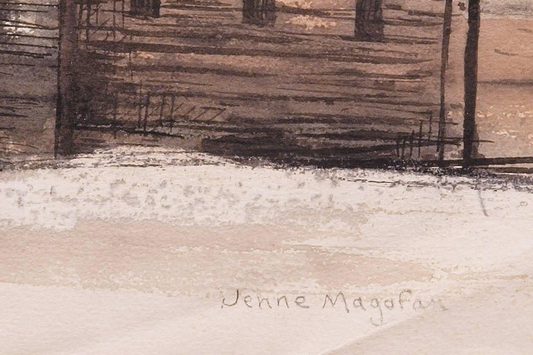 Church in Leadville (Colorado) - American Modern Painting by Jenne Magafan