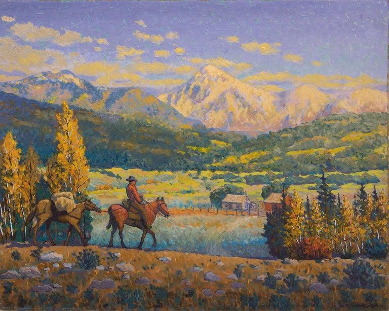 The Return  - Painting by Harold V. Skene
