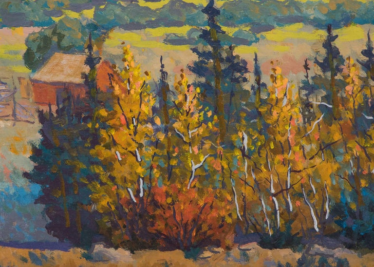 The Return  - Black Landscape Painting by Harold V. Skene