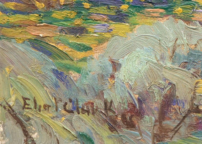 Untitled (Jackson Lake and Grand Tetons) - Abstract Impressionist Painting by Eliot Clark