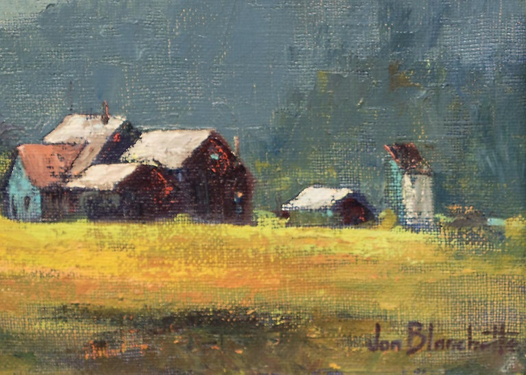West Mendocino (Southern California) - American Impressionist Painting by Jon Blanchette