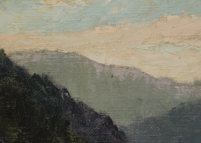 West Mendocino (Southern California) - Gray Landscape Painting by Jon Blanchette
