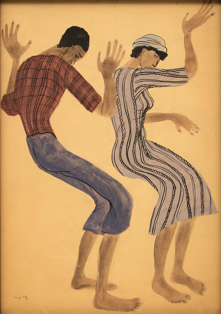 Untitled (Two Dancers) - Painting by Margo Hoff