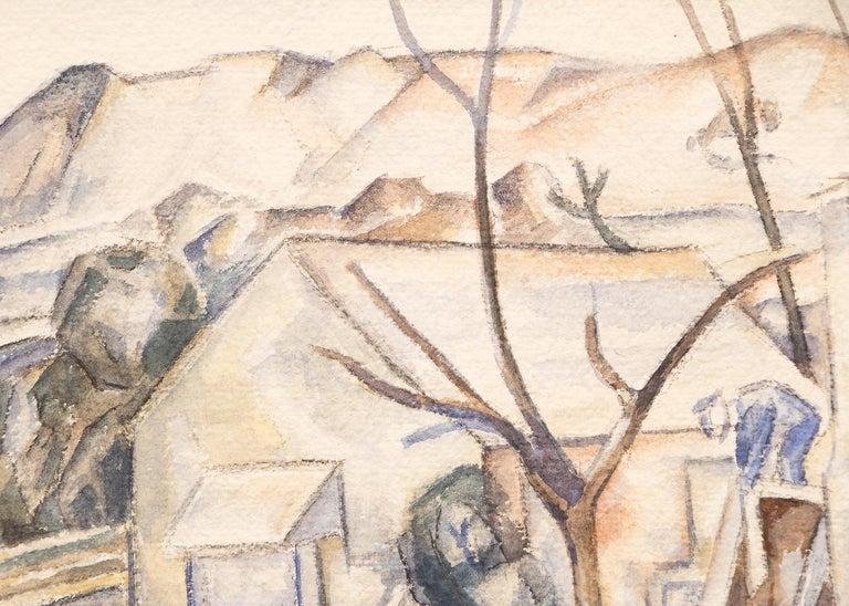 Untitled (Colorado Homestead) - Beige Landscape Art by John Edward Thompson