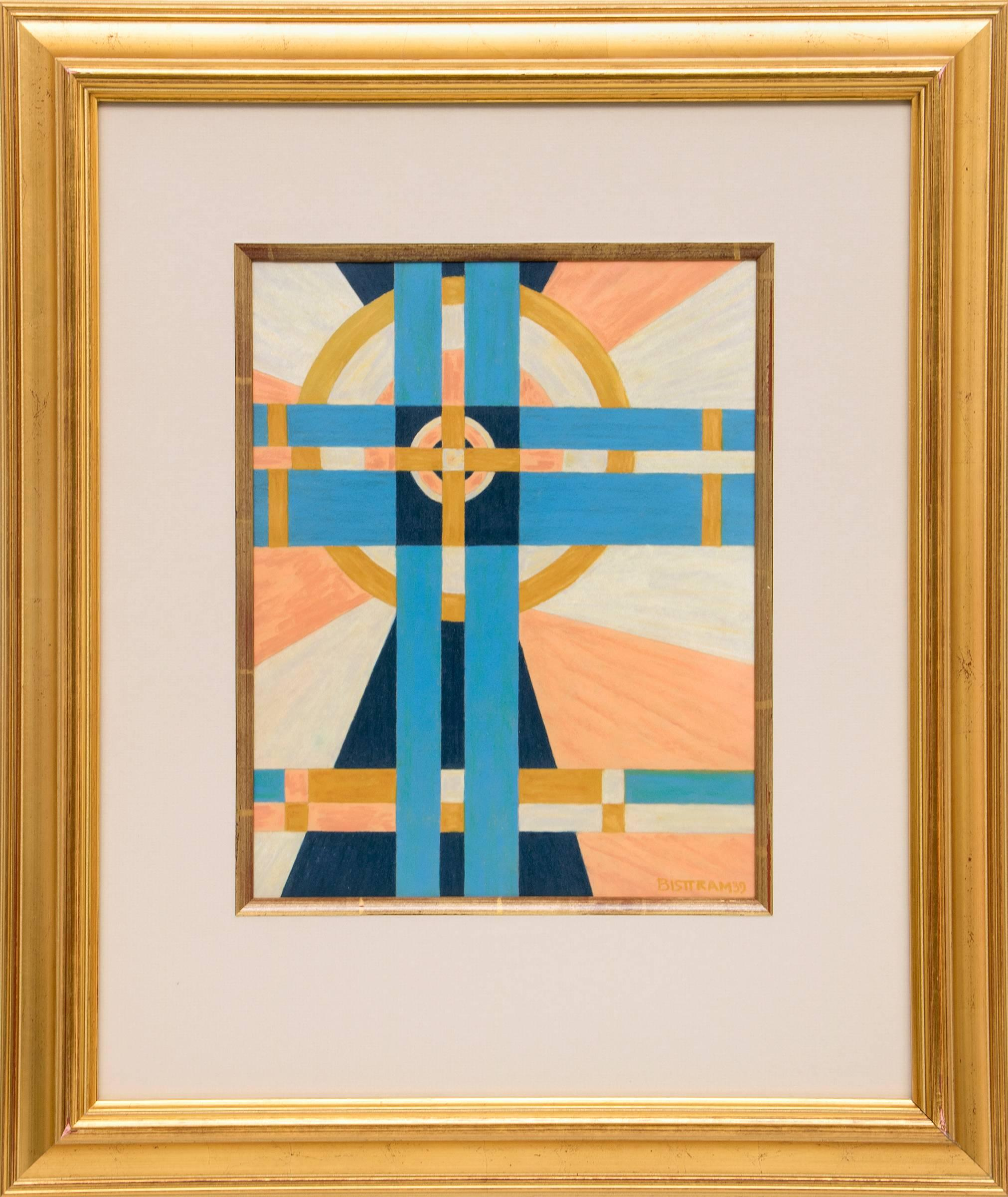 Untitled (Transcendental Abstract in Pink, Blue, Gold & White)