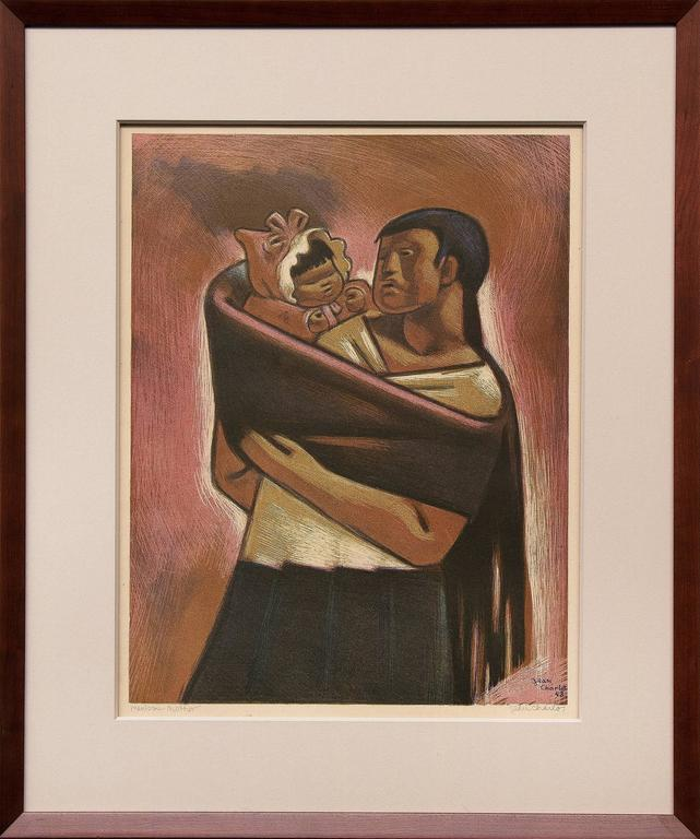 Jean Charlot Portrait Painting - Mexican Mother and Child