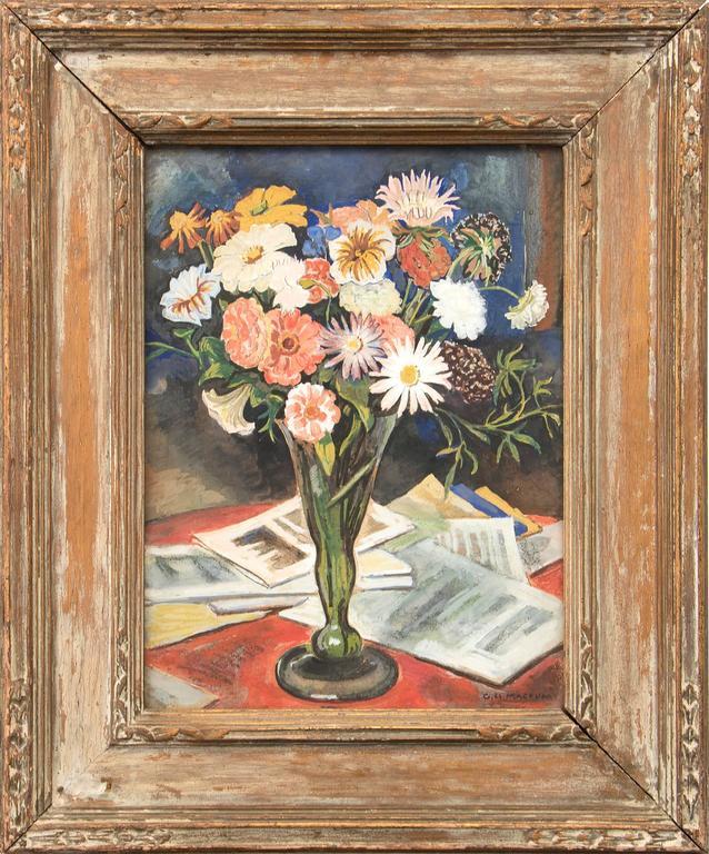 George Herbert Macrum Still-Life Painting - Floral Still Life