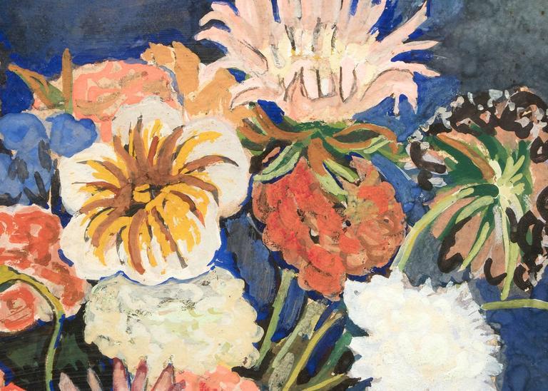 Floral Still Life - American Modern Painting by George Herbert Macrum