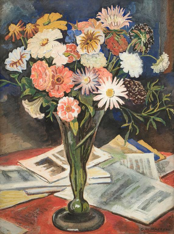 Floral Still Life - Painting by George Herbert Macrum