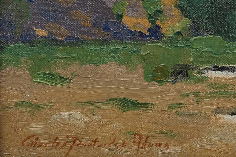 Untitled (California landscape) - American Impressionist Painting by Charles Partridge Adams