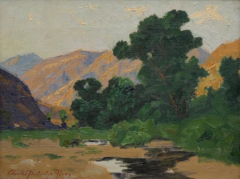 Untitled (California landscape) - Painting by Charles Partridge Adams