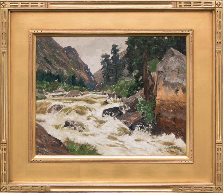Untitled (Colorado River) - Painting by Charles Partridge Adams