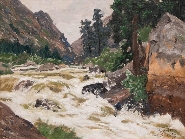 Charles Partridge Adams Landscape Painting - Untitled (Colorado River)