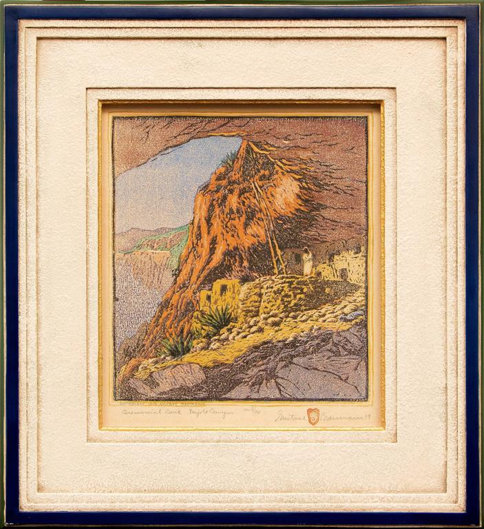 Gustave Baumann - Ceremonial Cave at Frijoles Canyon (New Mexico) 1