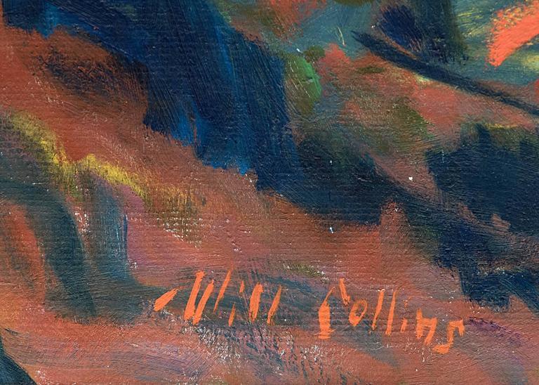 Oak Creek Canyon (Arizona) - Black Landscape Painting by Will Collins