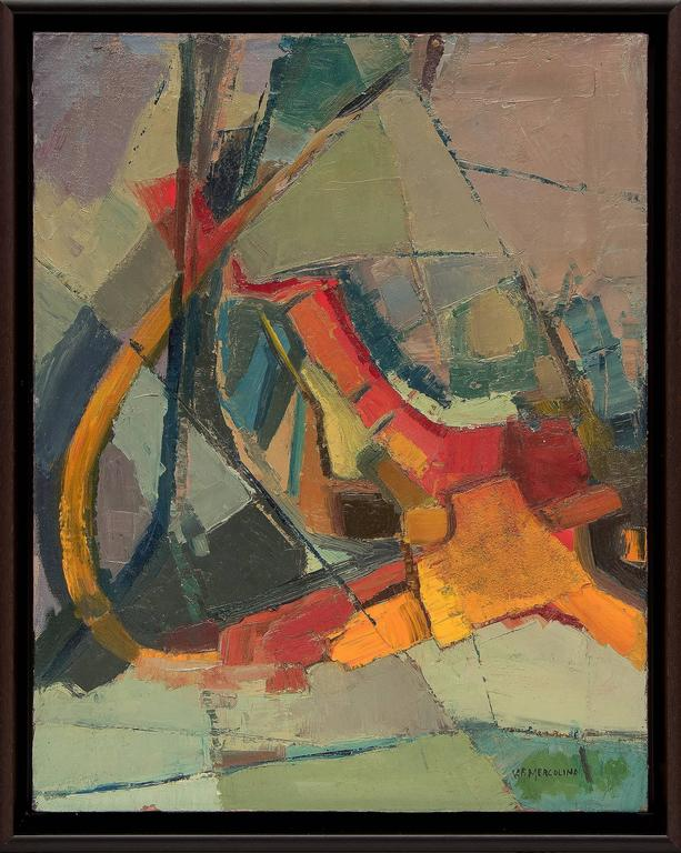 Florence Graziano Abstract Painting - Untitled (Abstract Expressionist Composition)
