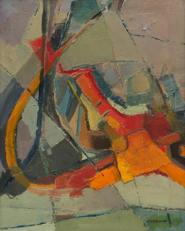 Untitled (Abstract Expressionist Composition) - Painting by Florence Graziano