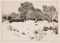 Adobes in the Snow (New Mexico); edition of 75