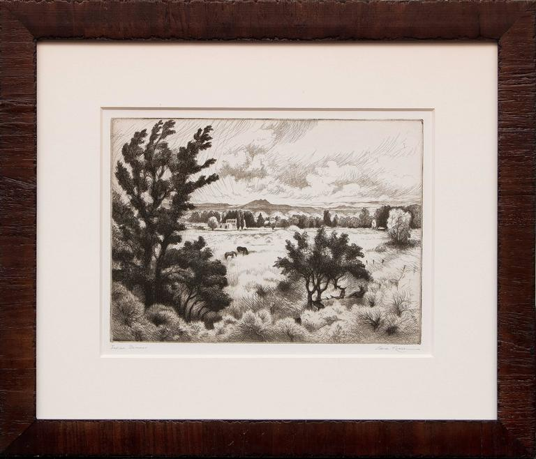Gene Kloss Landscape Print - Indian Summer
