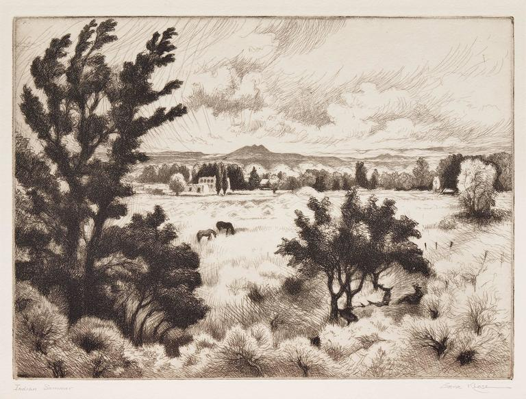 Indian Summer (New Mexico Landscape near Taos) - Print by Gene Kloss