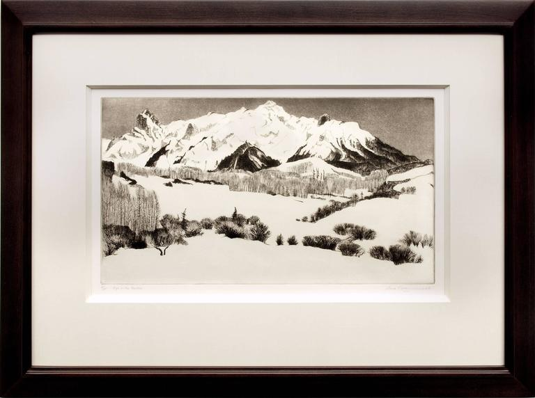 Gene Kloss Landscape Print - High in the Rockies