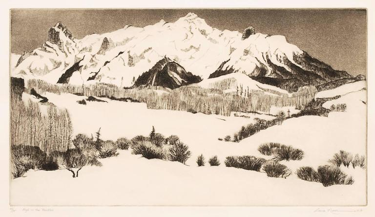 High in the Rockies - Print by Gene Kloss
