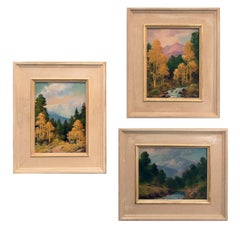 Collection of Three Landscape Paintings (Colorado Mountains)