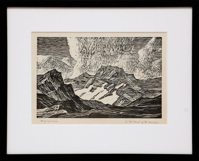 Sven Birger Sandzen In The Heart Of The Rockies South