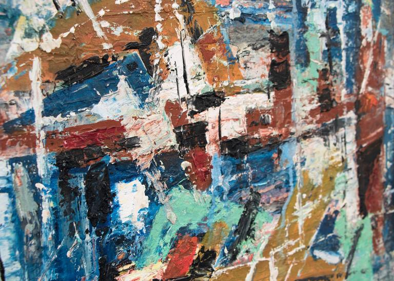 Abstract Expressionist mid-century modern composition titled