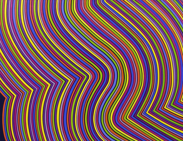 Edward Goldman Painting - Stripes in Motion
