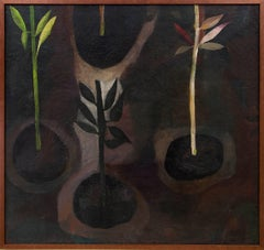Earth (Modernist Still Life Painting with Potted Plants)