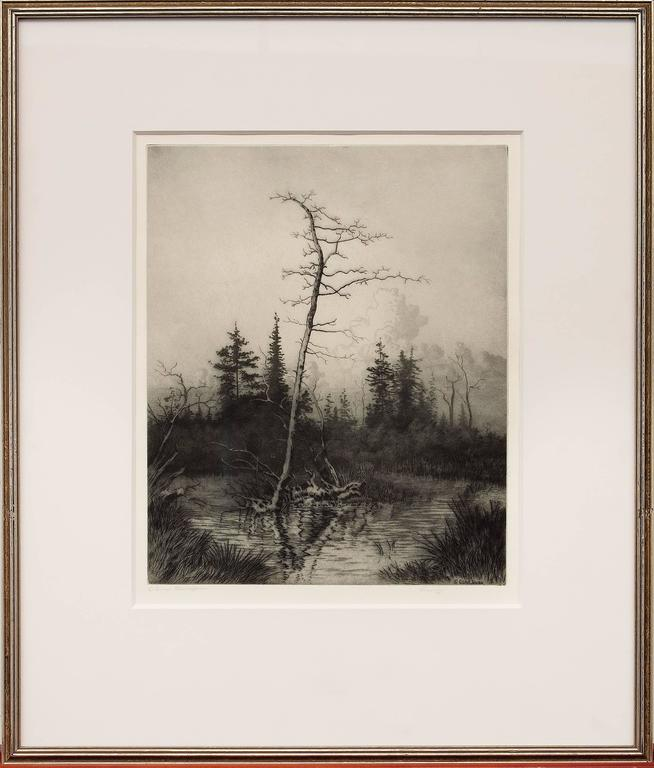 George Elbert Burr Landscape Print - Evening (Colorado)