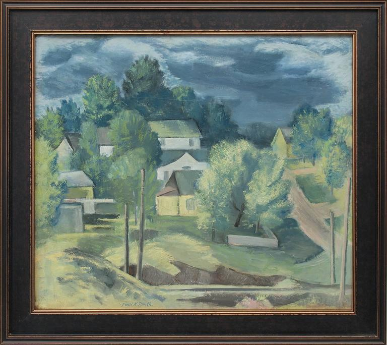 Paul Kauver Smith Landscape Painting - Untitled (Colorado Hill Town)