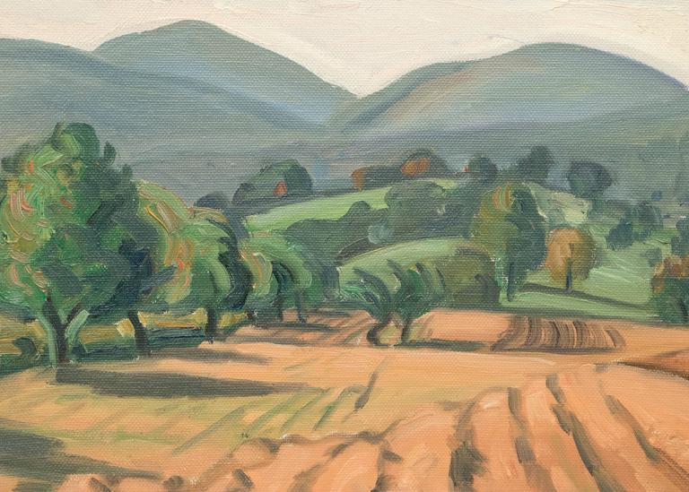 Untitled (Ojai, California) - Painting by Carl Lindin